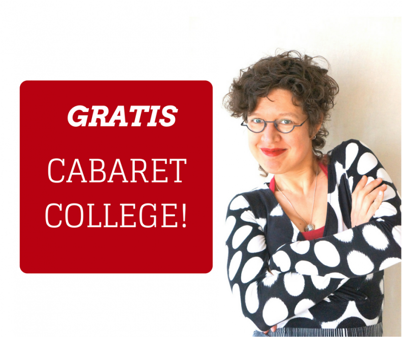 Cabaret-college plaatje voor FB header